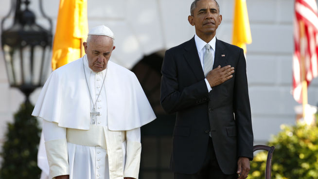 Barack Obama agradece la visita del Papa Francisco a Washington